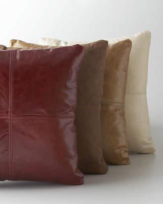 Massoud Tan Leather Pillow