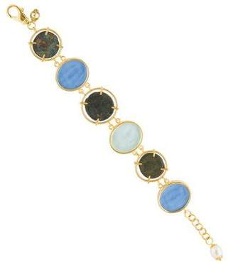 Tagliamonte Pearl, Cameo & Coin Link Bracelet