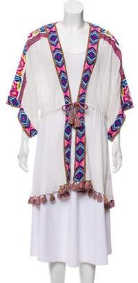 Calypso Open Front Embroidered Jacket