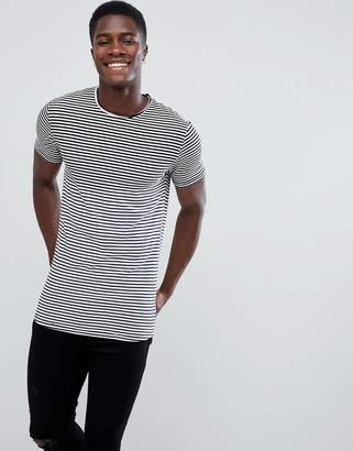 ONLY & SONS Longline Stripe T-Shirt