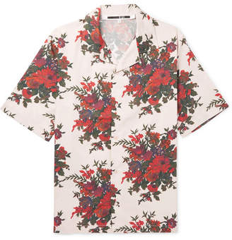 McQ Billy Camp-Collar Floral-Print Cotton-Poplin Shirt