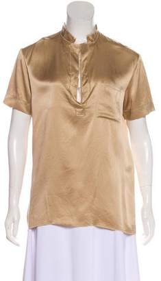 Lanvin Silk Short Sleeve Top