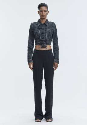 Alexander Wang BARE CROPPED DENIM JACKET DENIM