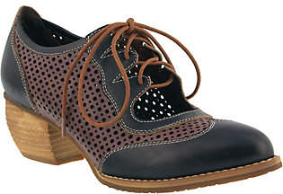 Spring Step L'Artiste by Leather Lace-Up Shoes- Gabriel