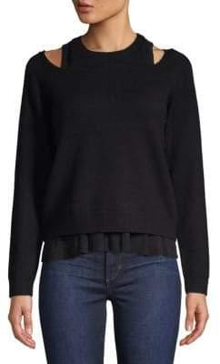 Derek Lam 10 Crosby Layered Wool-Blend Sweater
