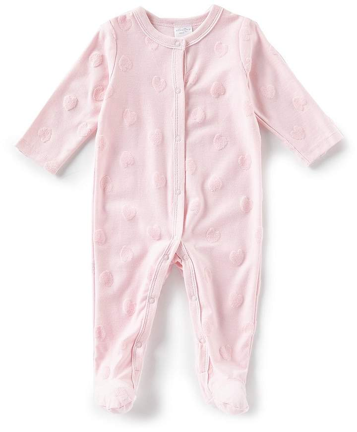 Starting Out Baby Girls Newborn-6 Months Long-Sleeve Heart Coverall