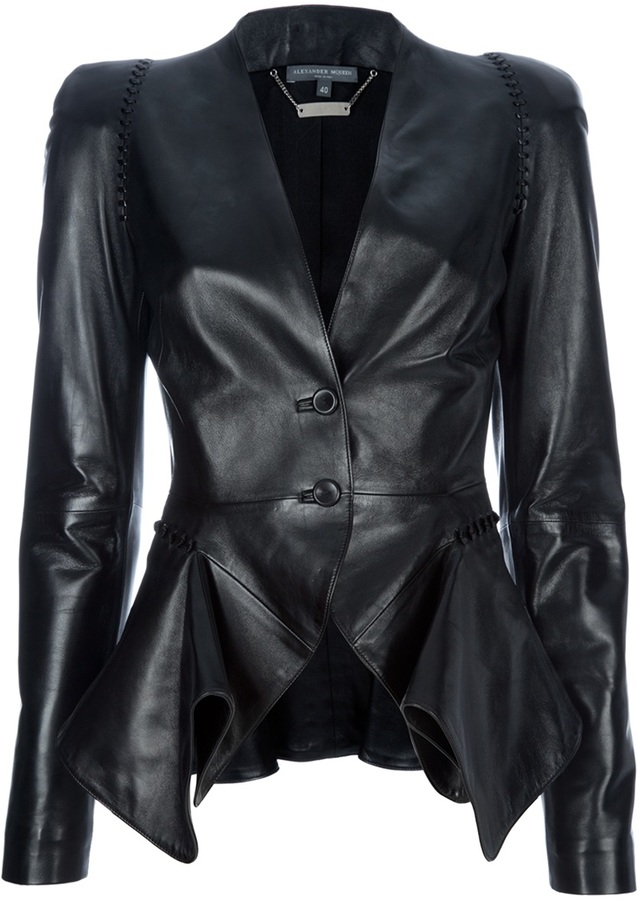 Alexander McQueen structured leather blazer