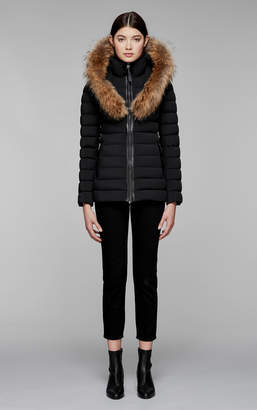 Mackage KADALINA light down jacket with fur trimmed collar