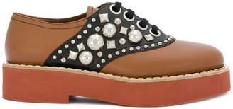 Miu Miu embellished Derby shoes