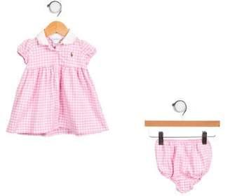 Ralph Lauren Infant Girls' Checkered Dress Set