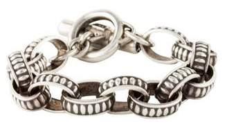 Kieselstein-Cord Textured Oval Link Bracelet