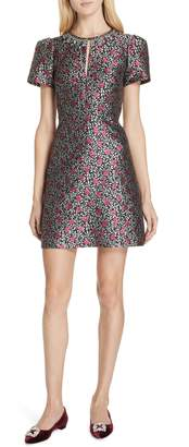 Kate Spade floral park jacquard fit & flare dress