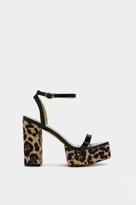Nasty Gal The Art of Purr-suasion Leopard Sandal