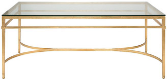 One Kings Lane Larsen Glass Top Coffee Table - Gold