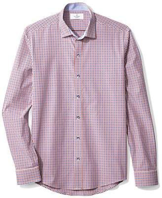Buttoned Down Men's Slim Fit Supima Cotton Cutaway-Collar Dress Casual Shirt