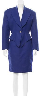 Thierry Mugler Peak-Lapel Pencil Skirt Suit $125 thestylecure.com