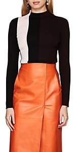 Narciso Rodriguez Women's Colorblocked Fitted Sweater - Black, Soft pnk, Aubergine