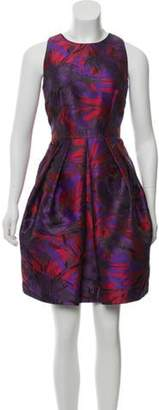 Carmen Marc Valvo Paradise Sheath Knee-Length Dress Purple Paradise Sheath Knee-Length Dress