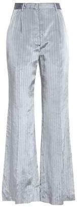 Sonia Rykiel Pinstriped Satin-Twill Wide-Leg Pants