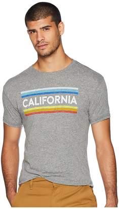 Original Retro Brand The Vintage California Stripe Tri-Blend Tee Men's T Shirt