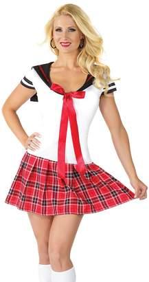 Coquette Women's Anime School Girl, White/Red