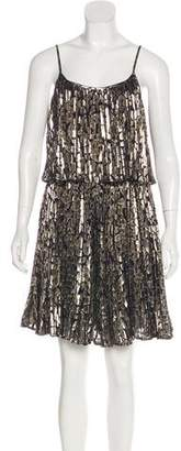 Halston Silk Metallic Dress