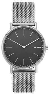 Skagen Signatur Slim Titanium Mesh Bracelet Watch