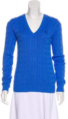 Ralph Lauren Cable Knit V-Neck Sweater