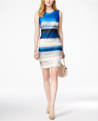 Tommy Hilfiger Printed Sheath Dress, Only at Macy's $129.50 thestylecure.com