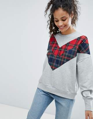 Bershka Check Detail Sweater