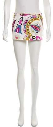 Emilio Pucci Mini Printed Skirt