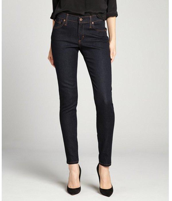 James Jeans blue black 'James Twiggy' stretch pants