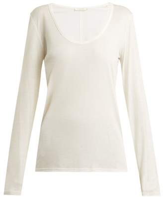 The Row - Baxerton Long Sleeved T Shirt - Womens - White