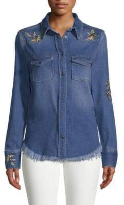 Zadig & Voltaire Thelma Embroidered Denim Shirt