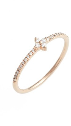 Women's Bony Levy Diamond Flower Stack Ring (Nordstrom Exclusive) $695 thestylecure.com