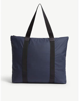 Rains Blue Waterproof Tote Bag