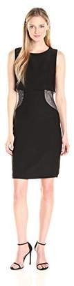 Jax Women's Sleeveless Pop Over Stretch Crepe with Studded Side Inserts