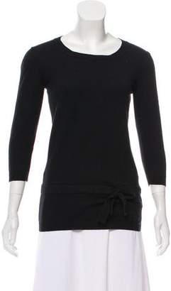 Burberry Scoop Neck Long Sleeve Sweater