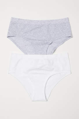 H&M 2-pack Seamless Hipster Briefs - Gray