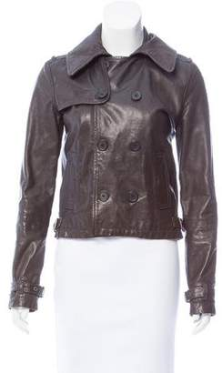 R 13 Double-Breasted Leather Jacket