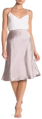 CODEXMODE Woven Bias Satin Midi Skirt