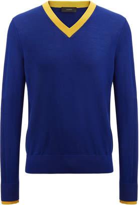 Joseph Rib Patch Merinos V Neck Sweater
