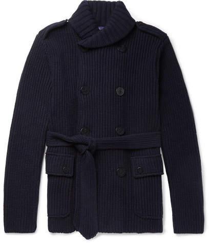 Ralph Lauren Purple Label Shawl-Collar Wool And Cashmere-Blend Cardigan
