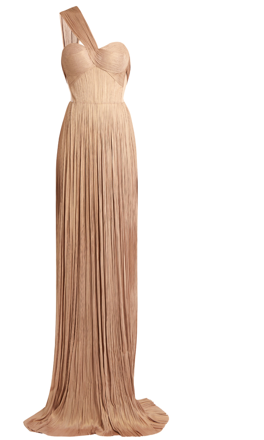 MARIA LUCIA HOHAN Imman silk-tulle pleated gown