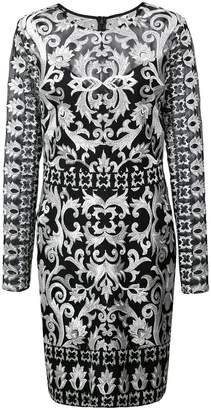 Nicole Miller short embroidered dress
