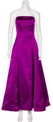 Ralph Lauren Silk Strapless Gown