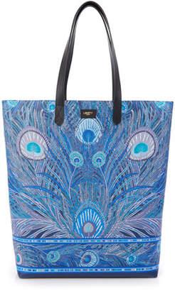 Liberty London Hera Peacock Canvas Tote Bag