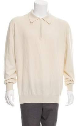 Valentino Cashmere Half-Zip Sweater w/ Tags