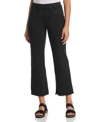 Eileen Fisher Pull-On Cropped Flare Jeans in Washed Black