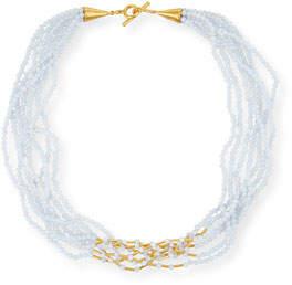 Yossi Harari Multi-Strand Chalcedony Cone Necklace